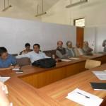 Mr. Netra Mani Dumi Rai, Executive Member, LSN, Ms. Ambika Regmi, Executive Member, LSN, Mr. Karnakhar Khatiwada, Executive Member, LSN, Mr. Ram Raj Lohani, former Secretary, LSN, Prof. Chandra Prakash Sharma, former President, LSN, Dr. Ramawatar Yadav, former President, LSN, Prof. Dr. Novel Kishore Rai, former President, LSN, Mr. Bhim Narayan Regmi, Secretary, LSN, Mr. Krishna Prasad Parajuli, President, LSN at meeting with former presidents and Chief Editors on August 12, 2012