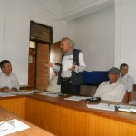 Prof. Dr. Abhi Subedi, former President, LSN, at meeting with former presidents and Chief Editors on August 12, 2012