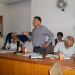 Prof. Nirmal Man Tuladhar, former President, LSN, at meeting with former presidents and Chief Editors on August 12, 2012