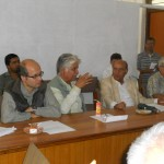 Prof. Chandra Prakash Sharma, former President, LSN, at meeting with former presidents and Chief Editors on August 12, 2012