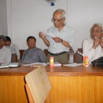 Prof. Dr. Tej Ratna Kansakar, former President, LSN, at meeting with former presidents and Chief Editors on August 12, 2012