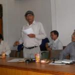 Dr. Dan Raj Regmi, former President, LSN, Prof. Dr. Yogendra Prasad Yadava, former President, Mr. Ramesh Khatri, Editor, Nepalese Linguistics, Prof. Nirmal Man Tuladhar, former President, LSN at LSN meeting with former presidents and Chief Editors on August 12, 2012