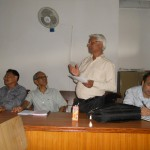 Prof. Dr. Madhav Prasad Pokharel, former President, LSN, at meeting with former presidents and Chief Editors on August 12, 2012
