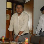 Dr. Dan Raj Regmi, former President, LSN, at meeting with former presidents and Chief Editors on August 12, 2012
