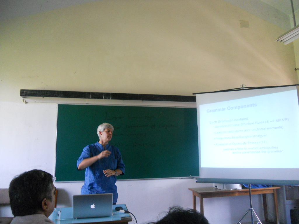 Prof. Dr. Miriam Butt during her talk jointly organized by LSN and CDL on September 7, 2012