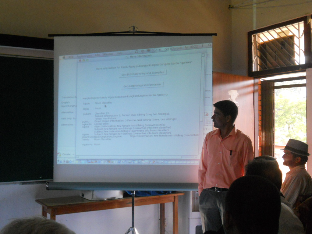 Mr. Bhim Lal Gautam, Vice President, LSN at a talk by Prof. Dr. Miriam Butt jointly organized by LSN and CDL on September 7, 2012