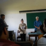Mr. Krishna Prasad Parajuli, President, LSN at a talk by Prof. Dr. Miriam Butt jointly organized by LSN and CDL on September 7, 2012